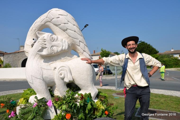 Arces mise en place sculpture Mathieu Harzo 7 juin 2016zb